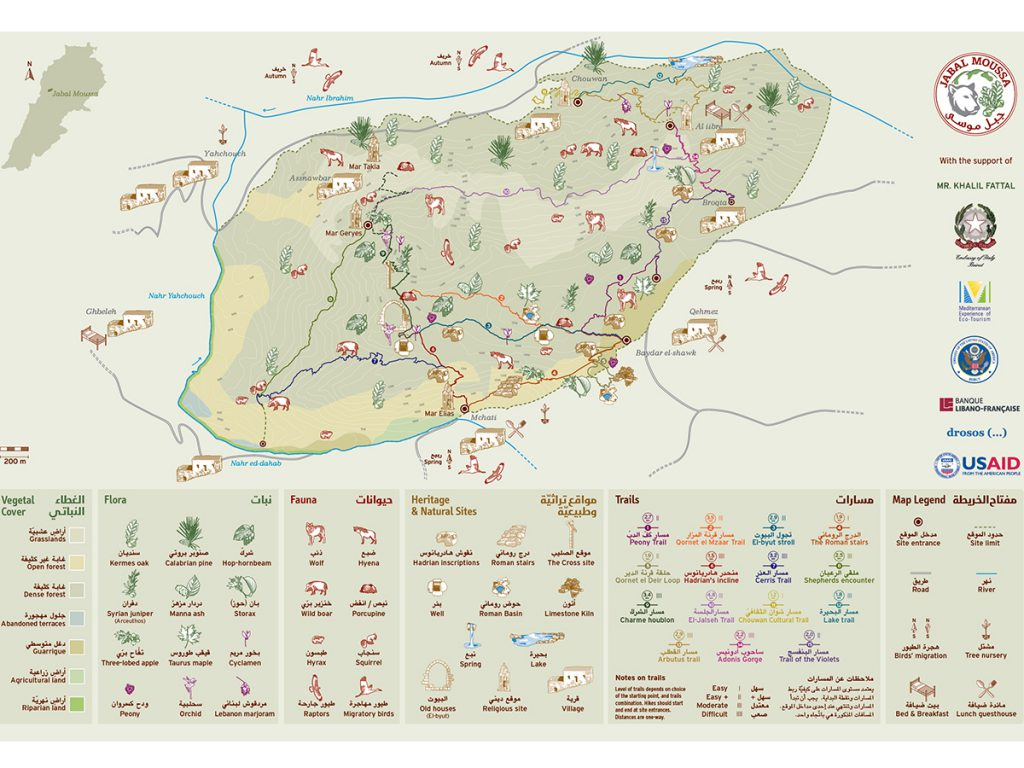 Jabal Moussa Map