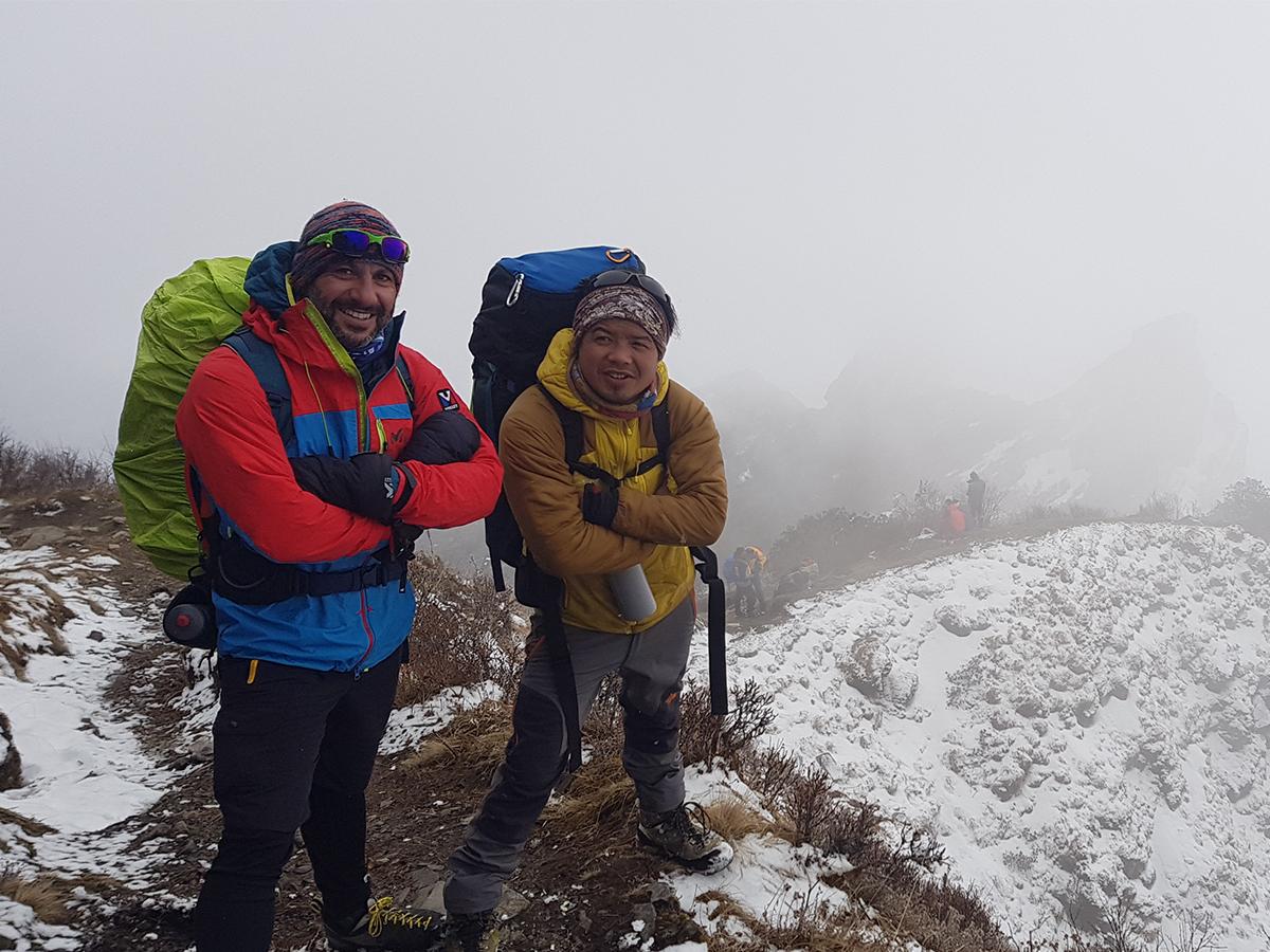George Saado with his Sherpa