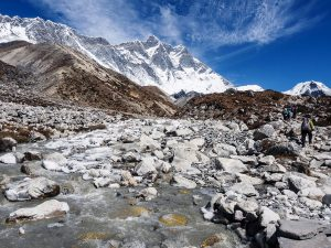 Lhotse (left) - Imja Khola River & Imja Tse island peak (right) - Spyro Klitira