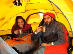 drinking water at Island Peak Base camp - Nafez Tawk & Youmna Saloumi