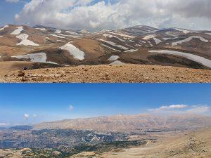 Al Makmel North face (up) vs South face (down) - July 2019
