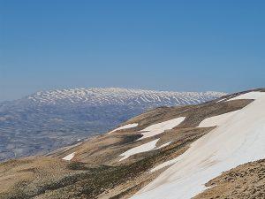 North Face of Mt Sannine as seen from Al Makmel