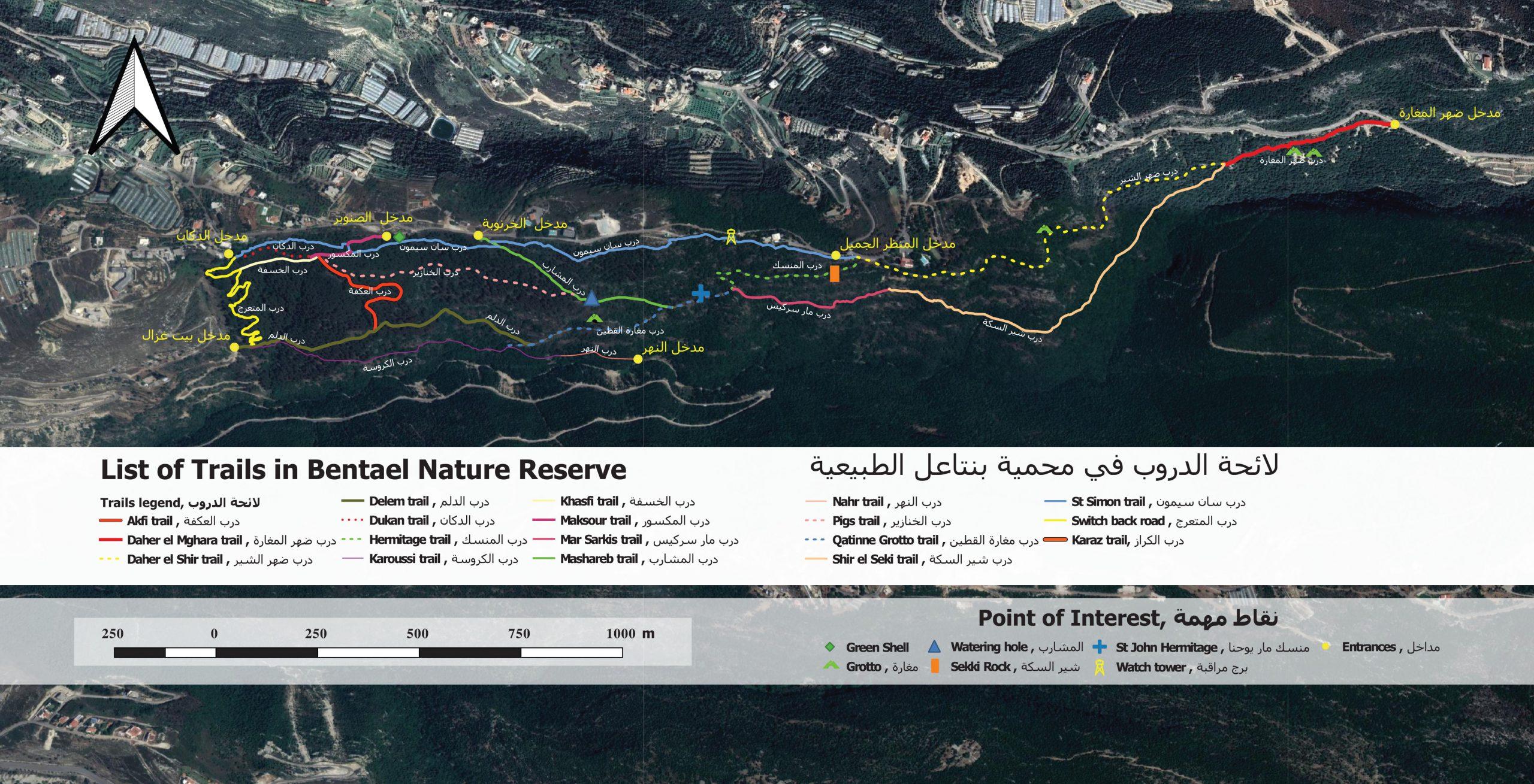Bentael Nature Reserve Map